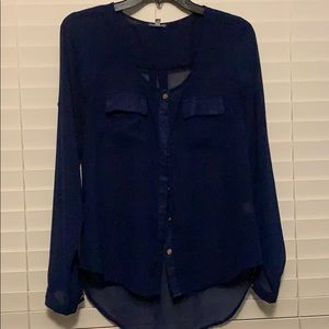 Navy blue button up